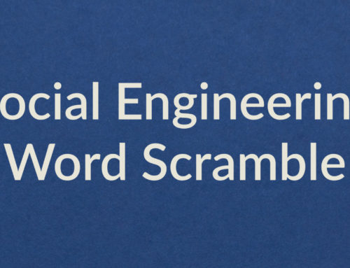 Social Engineering Word Puzzle